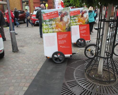 Mobile Werbung mit dem Fahrradanhänger