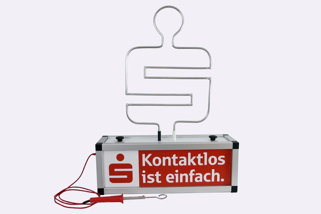 Modell Sparkasse mit Spieldraht »Logo«