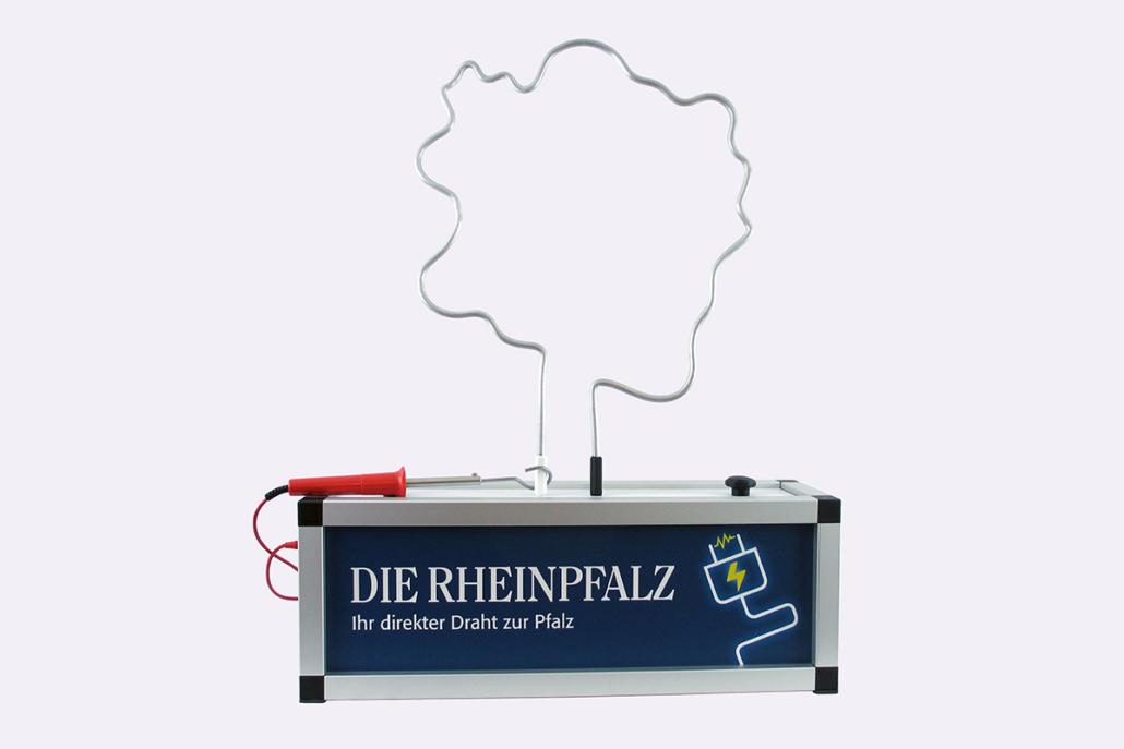 Sonder-Spieldraht mit Landesumriss »Rheinpfalz«
