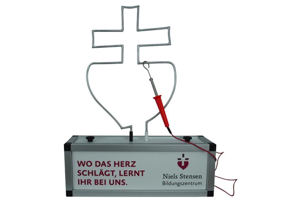 Sondermodell mit Logo-Spieldraht »Niels Stensen Bildungszentrum«
